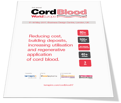 World Cord Blood Congress Europe 2017 prospectus