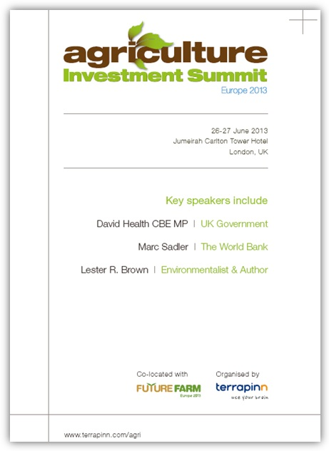 Agriculture Investment Summit Europe