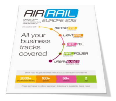 AirRail Europe confernce and exhibition on integrating airports with urban transport links