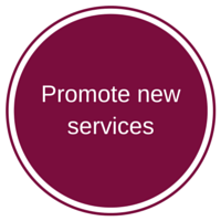 Promote new services