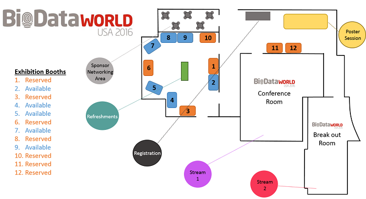 World BioData Congress USA floor plan