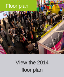 Exhibition floor plan for the World Biosimilar Congress 2014