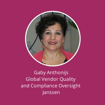 Gaby Anthonijs, Global Vendor Quality and Compliance Oversight, Janssen