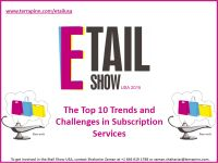 The Etail Show USA is where retailers and their solution providers meet to network, learn from each other, and discuss the latest developments in etail