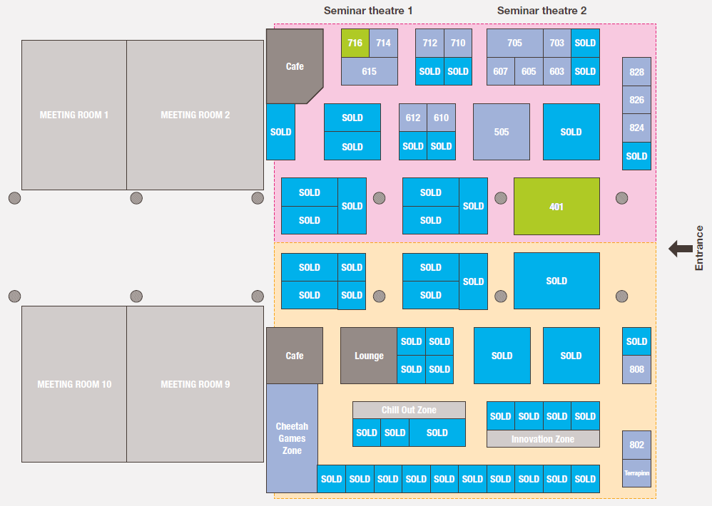 Click & Collect Show USA floorplan