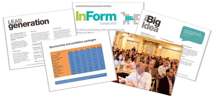 InForm Europe 2015 sponsorship opportunity
