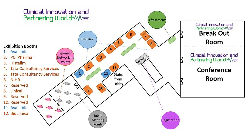 Clinical Innovation & Partnering 2017 floor plan