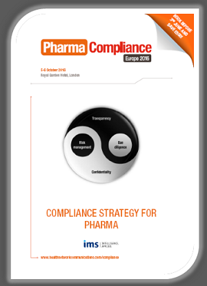Pharma Compliance Europe 2016 brochure