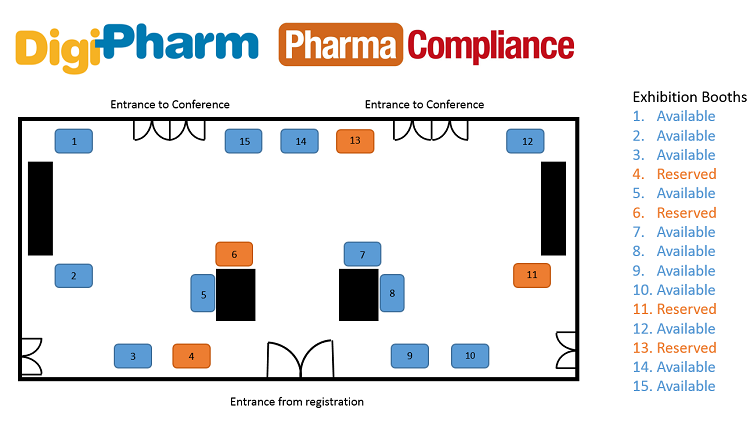 Pharma Compliance 2016 floor plan