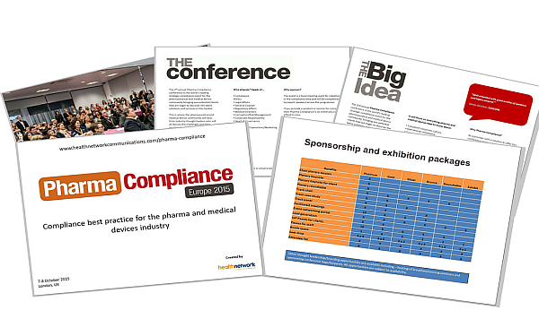 Pharma Compliance 2015 sponsorship brochure