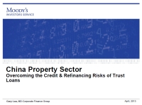 Presentation: Overcoming the Credit & Refinancing Risks of Trust Loans