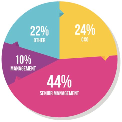 Pie chart of seniority attendance at Total Telecom Congress 2016