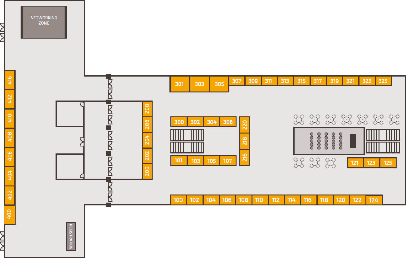 Trading Show Chicago 2017- Exhibition floor plan