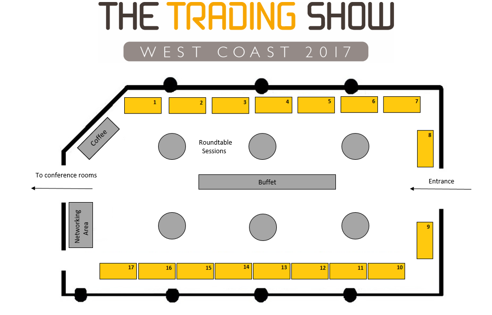 The Trading Show West Coast floorplan