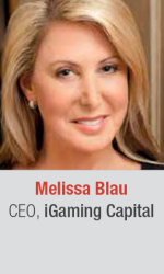 Melissa Blau at World Gaming Executive Summit for gaming and lottery executives in Barcelona