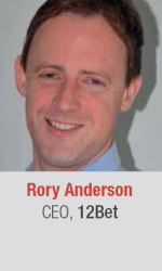Rory Anderson at World Gaming Executive Summit for gaming and lottery executives in Barcelona