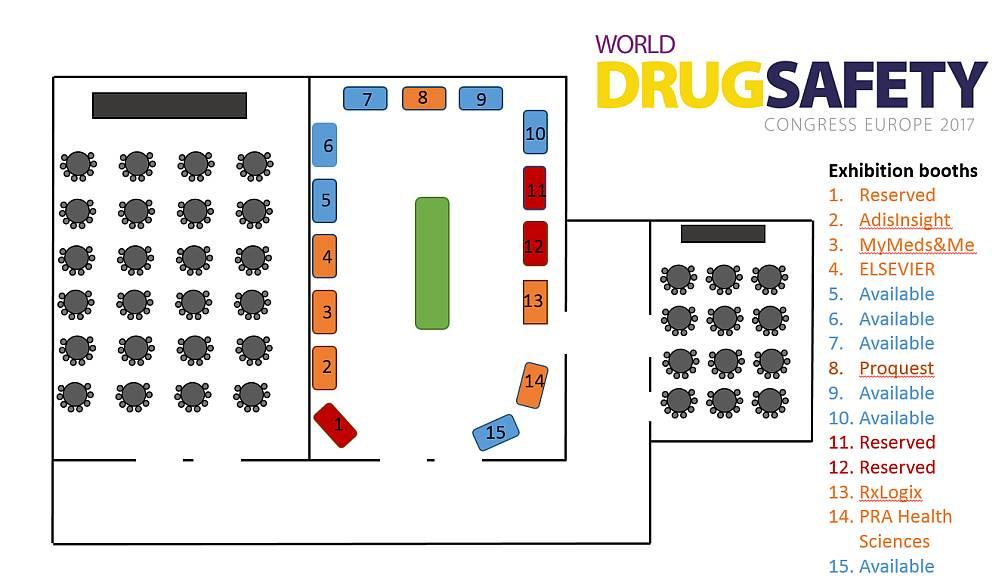 World Drug Safety Congress Europe 2017 floor plan