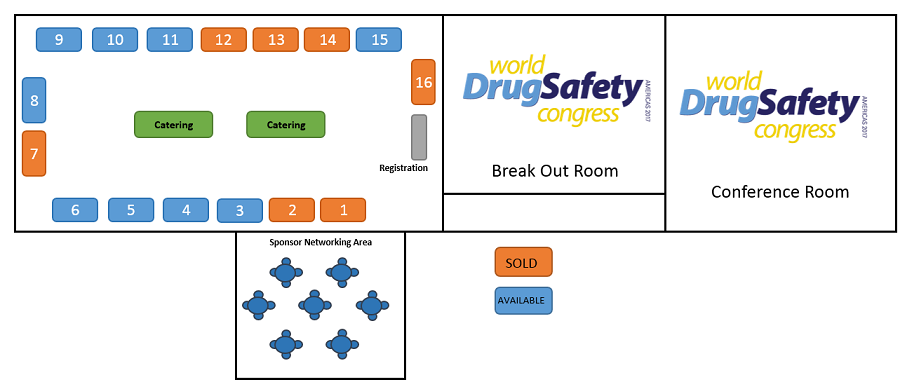 Drug Safety Americas 2017 floor plan