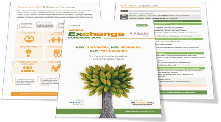 World Exchange Congress brochure