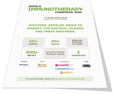 immunotherapy 2016 brochure