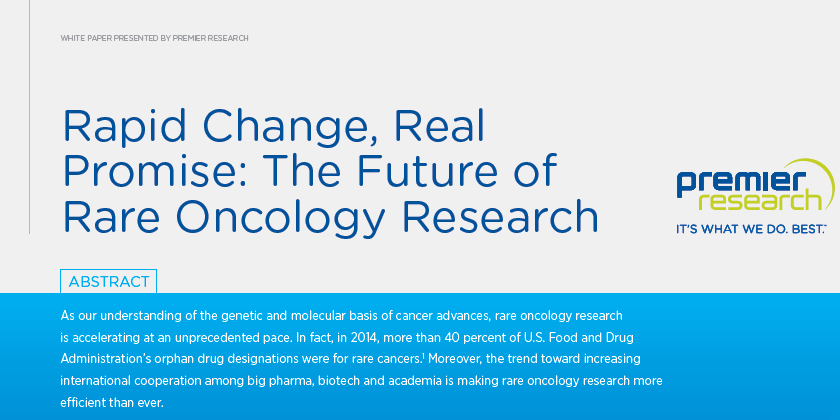 Premier Research - the future of Oncology