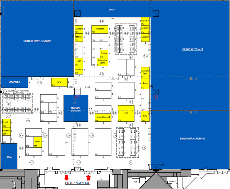 BioPharma Asia 2017 floorplan