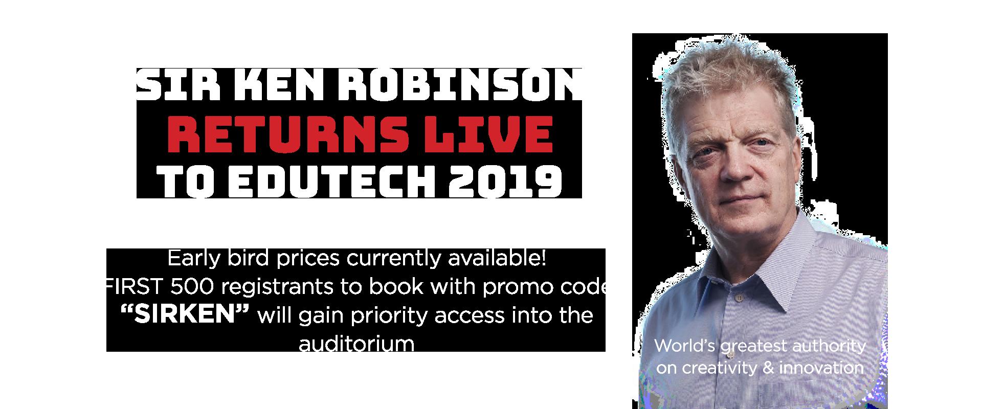 Sir Ken Robinson Coming to EduTECH 2019