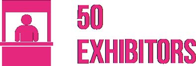 50 exhibitors