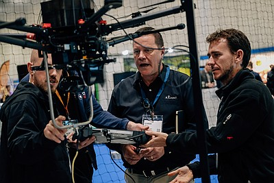 The Commercial UAV Show 2016 Demo Zone Photo